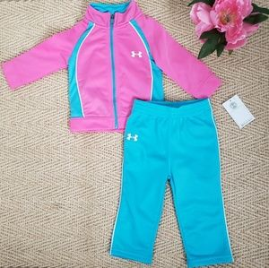 NEW BABY GIRL'S UNDER ARMOUR JOGGING SET